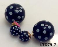 Fashion  girl round shape double side earrings LTD77-4