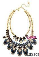 Fashion lady simple metal necklace LSS209