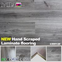 U-Groove Laminate Flooring with Handscraped Water-proof Waxed AC3