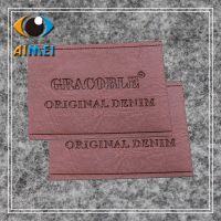 Custom leather tags for Clothing Jeans PU leather label custom brand name Leather Garment Labels key label tags for handwork