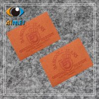 Customized handmade leather labels for Clothing custom label leather patchwork accessories with brand logo patches of leather