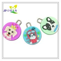 Customized pet PVC hang tags rubber slider Pull handle with logo for zipper silicone labels for clothes custom hat Plastic tags