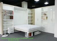 murphy bed double wall bed with folding bookshelf