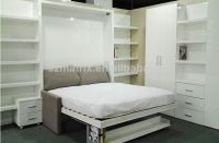 Vertically Opening Double Wall Bed With A Sofa To The Front , BookShelf Available