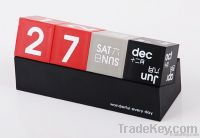 The DIY desktop calendar, desk calendar blocks
