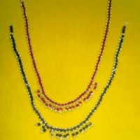 Golden Crystal Beads Necklace
