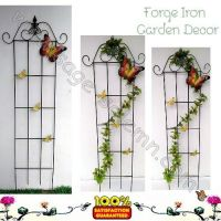 Wrought iron plant trellis