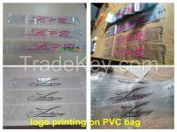 Custom pvc hair packing bag, vinyl wig bag, plastic hair extension bag