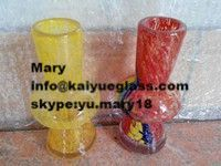 glow in the dark colored blown glass smoking pipes