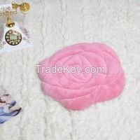 Rose shape seat cushion flannel for sofa or chair