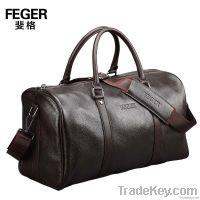 fashion leather weekender duffel&sport bag