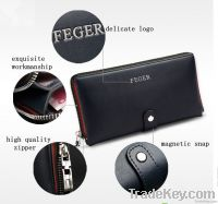 new design leather clutch bag for men