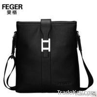 Korean Style Genuine Leather Men Messenger Bag
