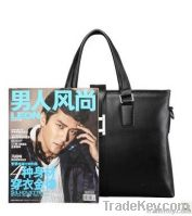 new style men leather business messenger bag