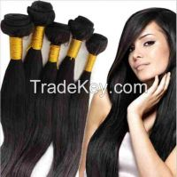 20 Inches Brazilian Virgin Hair Natural Black100% Human Hair Extension