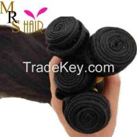 20 Inches Brazilian Virgin Hair Natural Black100% Human Hair Extension