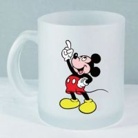 11oz sublimation frosted glass cup, glass mug