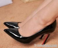 CHRISTIAN LOUBOUTIN PIGALLE BLACK PATENT LEATHER PUMPS