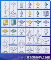 Beveled glass Tiles