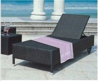 Hot sale rattan sun lounger