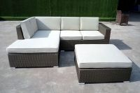 Aluminum Wicker rattan sofa