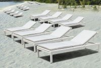 Wicker rattan beach sun lounger