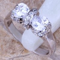 anniversary rings zircon brass silver plating jewelry