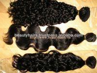 100% human virgin curly, straight, wavy hair