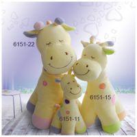 Baby cotton velvet plush toy giraffe