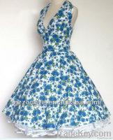 1950s fashion vintage swing dress rockabilly dress retro dress