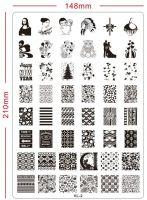 2014 hot nail art stamping plate