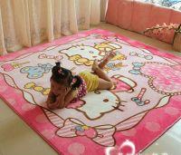 Machine-made printed carpet, Hellokitty Cartoon children crawling mat