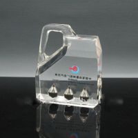 acrylic oil paperweight in cylinder shape