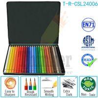 "24 Colored Pre-sharpened Length 7"" Diameter 3.0mm"