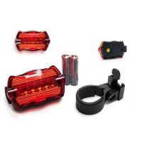 New High Quality Mountain Bike Bicycle 5 LED Bright Rechargable Back Light Rear Lamp