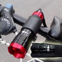 New High Quality Mountain Bike Bicycle Alu Aluminium Metal LED Bright Rechargable Head Light Lamp
