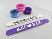 Eco-friendly silicone slap bracelet