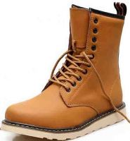 high top men's rubber sole genuine leather casual boots shoes