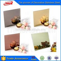 No.8 Mirror Ti-Gold Finish stainless steel decorative sheet