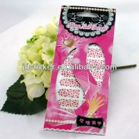 Printing nail art stickers, made nail wraps