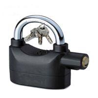 2014 new padlock alarm  siren alarm padlock   padlock  brass padlock