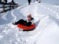 Inflatable PVC Snow Tube Sled with Oxford Cover