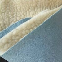 100% Polyester Alcantara Suede Fabric Bonded with Sherpa Fabric