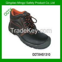 2014 fashion genuine leather PU sole safety shoes