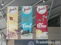 customized decorative outdoor advertising banner flags
