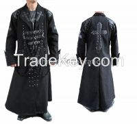 GOTHIC LONG COAT COTTON MATERIAL STEAMPUNK