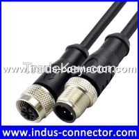 Equivalent to binder 3 pin m12 cable connector