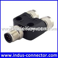 IP67 A coding 3 pin male female m8 splitter connector
