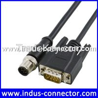 Waterproof Industry 5 pin cable m12 to db 9pin cable