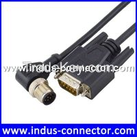 D-sub 9 pin to 90 degree m12 connector cable